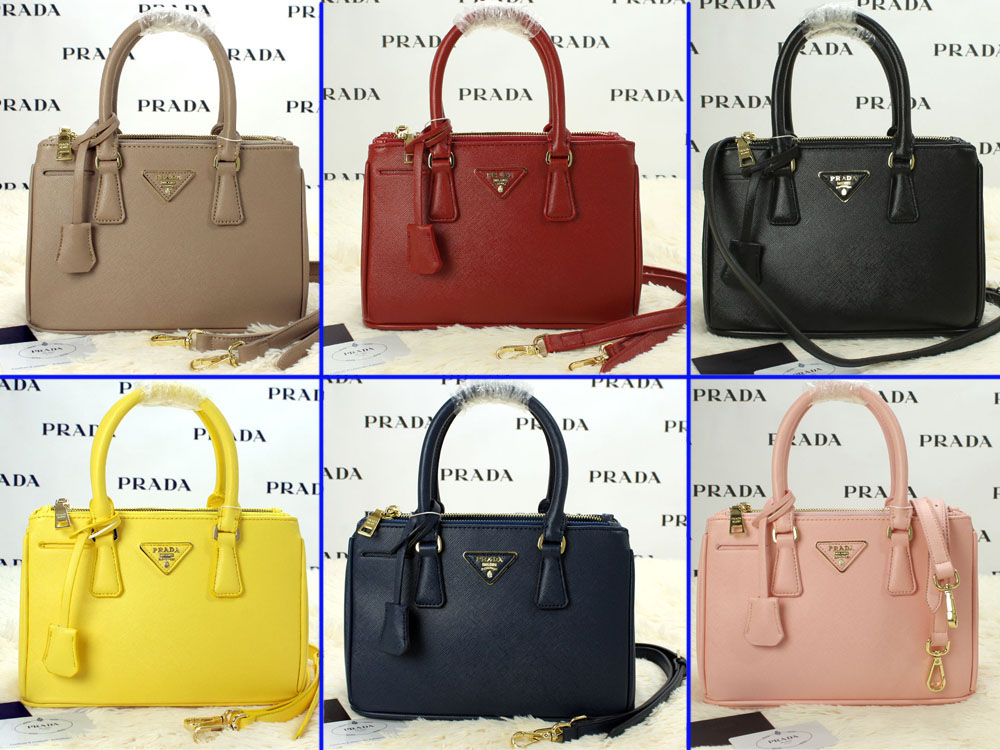 Collectionbatam Tas Prada Saffiano Taiga 28 Double Zip Hitam Semi f5b102fd73