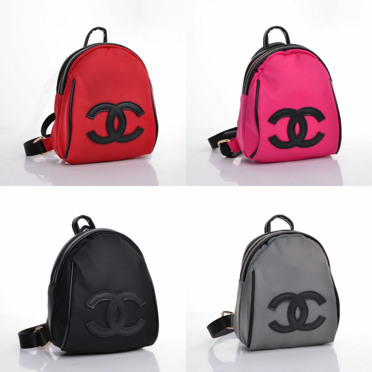 Legendabutik Ransel Chanel Mini Canvas Cc Merah Semi Premium 39677fb003