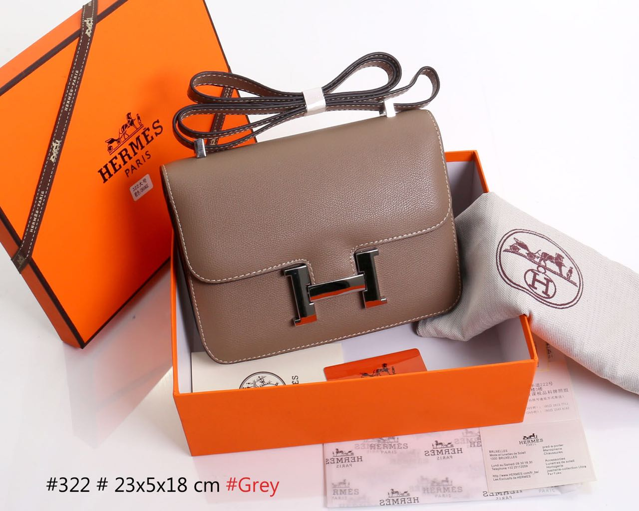 Clutch Hermes Constance Small SHW ABU KHAKI Semprem Box Terlaris 322. Model  Clutch Batam · Model Tas Batam ... a6066d84b7