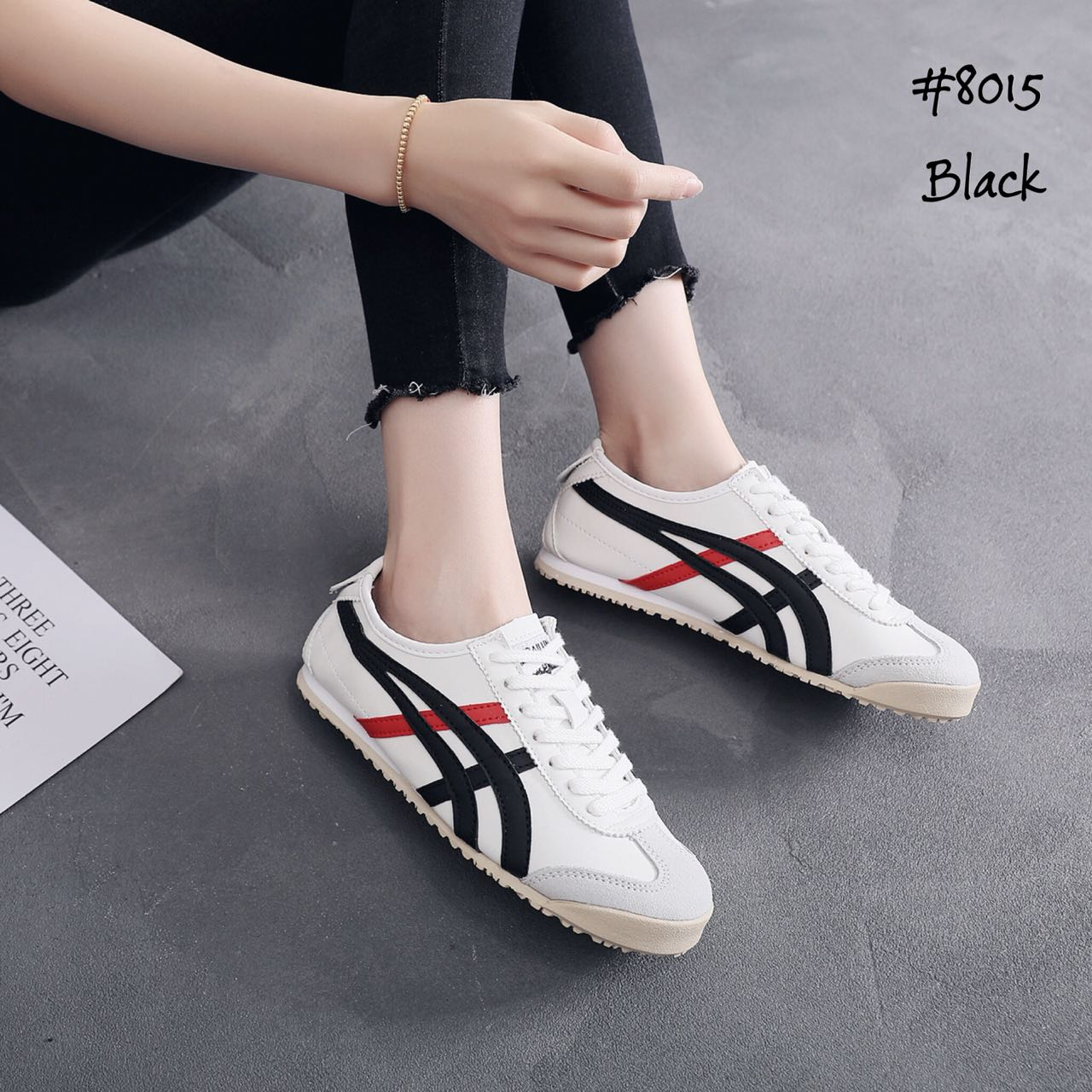 Sepatu Fashion Sneakers Onitsuka Tiger Japan Hitam Semprem Bestseller Murah  8015 a53908e8d6