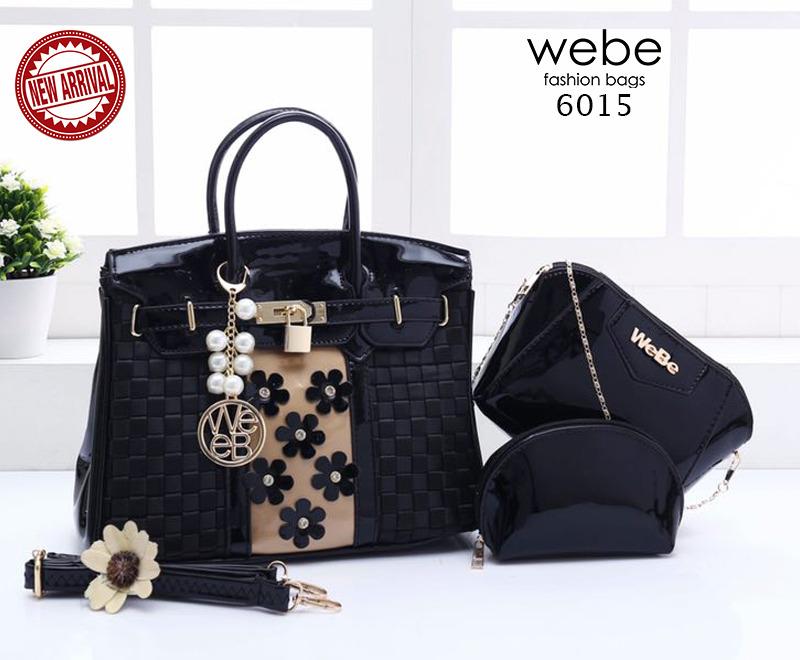 Batam Branded | Tas Webe Birkin Flora Paris Combie 3in1